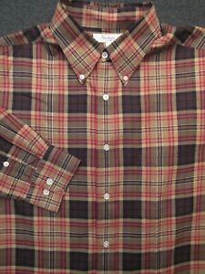 Men's Multicolor Pattern TURNBURY long sleeve Casual Shirt ~ Large