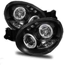 Subaru Impreza 00-03 Bug Eye Black Angel Eye Projector Headlights Lamps Replace