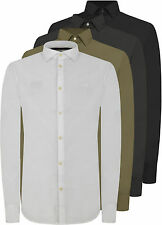 Patternless Long Sleeve Casual Shirts & Tops for Men ARMANI