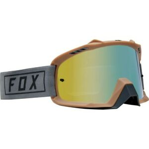 New Fox Youth Kids Airspace Goggles Gasoline Gold Mirrored Lens Motocross MX