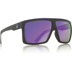 Dragon Alliance The Fame Sunglasses Black Purple Nebula Ionized Mirrored Lens