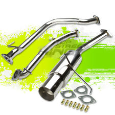 """4"""" MUFFLER TIP STAINLESS STEEL CATBACK EXHAUST SYSTEM FOR 10-14 CRZ CR-Z ZF1"""