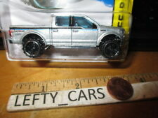 HOTWHEELS SILVER '15 FORD F-150 CREW CAB PICK UP TRUCK SCALE 1/64 - NEW FOR 2015