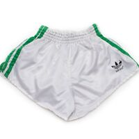ADIDAS Vintage Glanz Nylon Shorts - Made in W.Germany - Size:3 - white (1563)