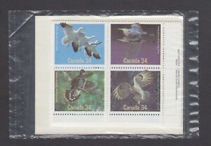 CANADA SEALED PLATE BLOCKS 1095-1098 BIRDS OF CANADA, SNOW GOOSE ETC, APL