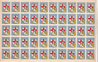 Greece 1918 WW1 Red Cross roulette mint never hinged full stamps sheet R19859