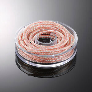 1M HEADPHONE DIY Upgrade CABLE Silver Plated OCC Wire For AUDIO HiFi DIY