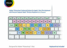 Adobe Photoshop Keyboard Stickers (White Letters) | Mac | QWERTY UK, US