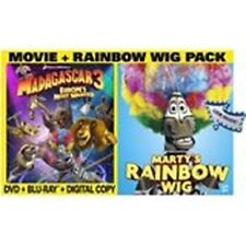 WHOLESALE LOT OF 10: MADAGASCAR 3 (DVD) With Bonus Rainbow Wig! NEW / SEALED