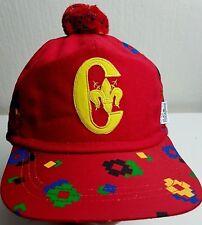 CONTE OF FLORENCE VINTAGE Sherlock Holmes Hat WOOL CAP Xmas Red SKI Pom 58 59 cm