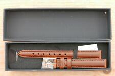Daniel Wellington Brown Leather Watch Strap, Gold Coloured buckle, 12mm, BNIB