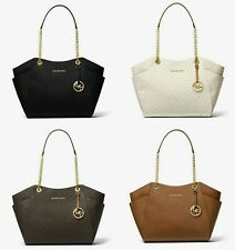 b43b757398c9 Michael Kors Jet Set Travel Chain Shoulder Tote Bag Saffiano Leather