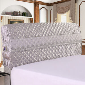Bed Headside Cover, Bed Headboard Slipcover Protector Removable Cover Grey