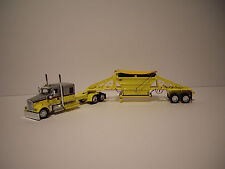 DCP 1/64 YELLOW & SILVER KW W900 WITH YELLOW WITH YELLOW TARP MANAC BOTTOM DUMP