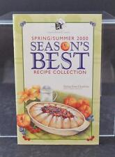 Spring/Summer 2000 Season's Best Recipe By The Pampered Chef Cookbook Book W11