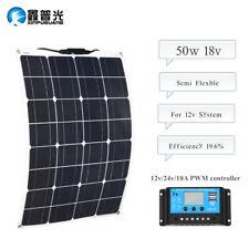 50w  Solar Panel Kit Solar Module 12V Battery Charge+Controller Regulator