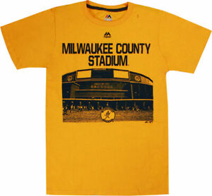 Milwaukee Brewers Prime Time Comeback Men's Yellow Gold Shirt