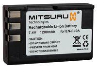 Mitsuru® 1200mAh Batterie pour Nikon EN-EL9 ENEL9 ENEL-9