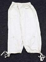 Fadrrc Damen Capri Hose Chino-Hose Creme-Weiß Blumen-Muster bestickt  Gr. 38 40