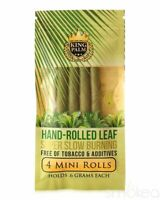 King Palm Mini Rolls Leaf Organic - 1 PACK - Natural 4 Per Pack Filter FAST SHIP