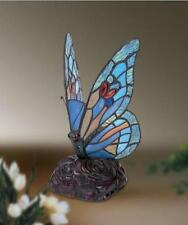 Blue butterfly tiffany style glass table lamp heavy duty (Fast & Free Delivery)