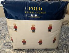 Ralph Lauren Polo Teddy Bear Queen Comforter Set Boy With 2 Standard Sham's