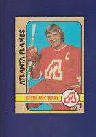Keith McCreary 1972-73 O-PEE-CHEE OPC Hockey #25 (EX+) Atlanta Flames