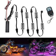6pcs 36LED Motorcycle UnderGlow Light Kit Multi-Color Neon Strip Remote Control