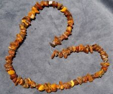 Eggyolk Deco Russian Raw Baltic Konigsberg Amber Bernstein Necklace Choker Chain