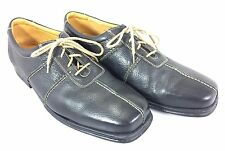 Sandro 11.5D Men Black Leather Oxford Walking Shoes Made in Brazil Comfort Sole