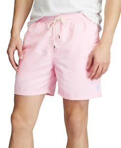 "Polo Ralph Lauren Men's 5 1/2"" Inseam Traveler Swim Trunk Pink Size XXL"