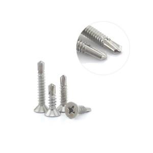 Self Drilling Stainless Steel Screws Flat Head M4.2x25mm 50PCS/300PCS