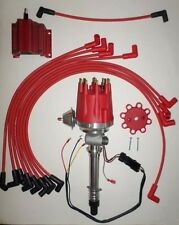 Small Cap CHEVY CORVETTE Tach Drive RED HEI Distributor,coil & wires over Valve