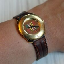 Vintage Benetton by Bulova Woman's Watch Leather Band 1980s