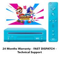 Nintendo Wii Blue Console Bundle - Mario & Sonic London 2012 Olympic Games