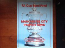 Manchester City verses Ipswich Town FA Cup semi final 11.4.1981