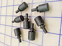 # 4190 Pk of 7 rubber FEET button Bumpers A=1/2, B=1.137, C=.240, D=3/8, E=9/16