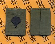 US ARMY Enlisted SPECIALIST FOURTH CLASS SPC E-4 OD Green slip on rank patch set