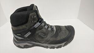 Keen Ridge Flex Mid Waterproof Hiking Boots, Grey Leather, Men's 13 M