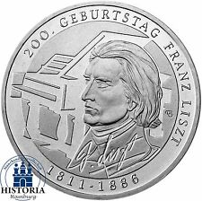 Deutschland 10 Euro Franz Liszt Silbermünze 2011 Münze bankfrisch in Münzkapsel
