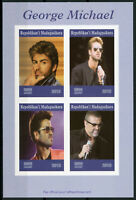 Madagascar 2019 MNH George Michael 4v IMPF M/S Music Celebrities People Stamps