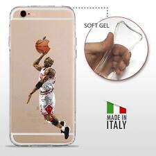 iPhone 6S / 6 TPU COVER PROTETTIVA GEL TRASPARENTE NBA Basket Jordan