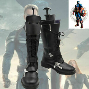 The Avengers Captain America Winter Soldier Cosplay Shoes Boots