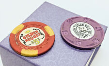 2 Vintage Las Vegas Casino Chips, Golden Nugget ,Benny Binions Horseshoe Club