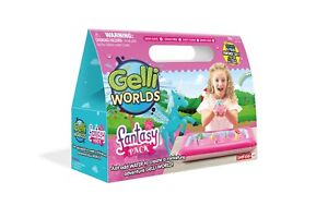 Zimpli Kids Gelli World Fantasy Pack, Sensory Messy Play Kit, Unicorn Fairy