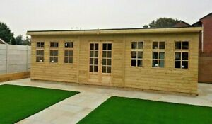 22x12ft insulated Summerhouse double glazing shed