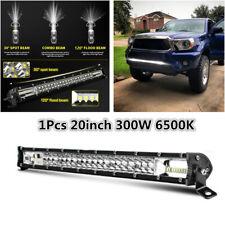 "20"" 12D Dual Row Slim LED Light Bar 300W Driving Offroad Flood Spot Combo Beam"