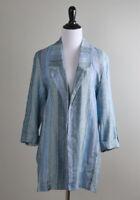 ANTHROPOLOGIE $128 Banjara Striped Tab Sleeve Open Front Jacket Top Size Medium