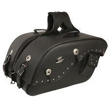"""Motorcycle Waterproof Saddle Bags Rivets Harley Bike List Below - 20 x 13 x 7"""""""