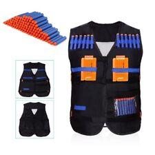 Tactical Vest Black Kids Nerf Gun Battle Children Combat Hunting Play Fun Safety